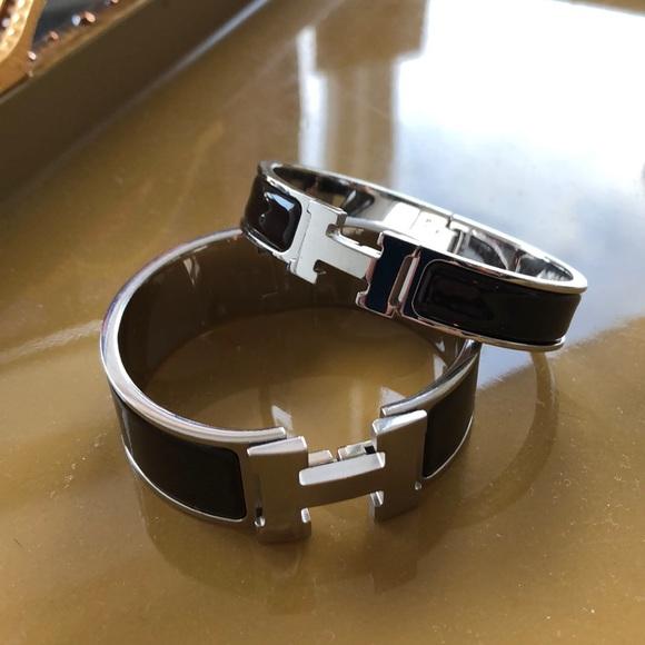 Hermes Jewelry   Set Of 2 Clic Clac Enamel Bracelets   Poshmark 45731c30df8